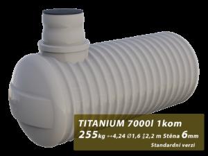 Plastová žumpa Titanium, jednokomorová 3 m3