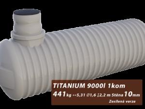 Zesílená plastová žumpa Titanium, jednokomorová 3 m3