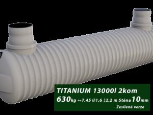 Zesílený plastový septik TITANIUM, dvoukomorový 3 m3