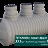 Zesílený plastový septik TITANIUM, třikomorový 3 m3
