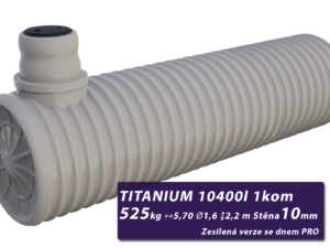 Zesílená žumpa Titanium, jednokomorová se dnem PRO 2,4 m3
