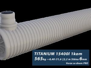 Plastová žumpa Titanium, jednokomorová se dnem PRO 2,4 m3