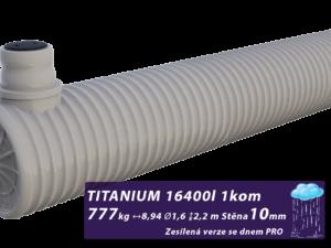 Zesílená jímka na dešťovou vodu Titanium, se dnem PRO 3,4 m3