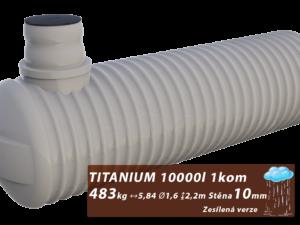 Zesílená plastová jímka na dešťovou vodu Titanium 3 m3