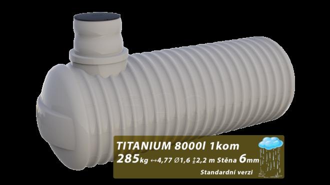 Plastová jímka na dešťovou vodu Titanium 5 m3